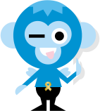Wink обезьяна стикер